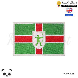 NOTTINGHAMSHIRE-County-Flag-Embroidered-Iron-On-Sew-On-Patch-Badge-For-Clothes