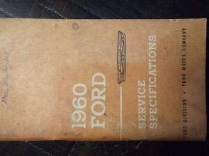 Original-Vintage-1958-Ford-Service-Specifications-Manual-Car-Thunderbird-Truck