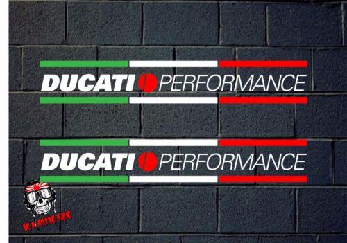 STICKER STICKER AUTOCOLLANT ADESIVI AUFKLEBER DECAL 2X DUCATI PERFORMANCE ITALY