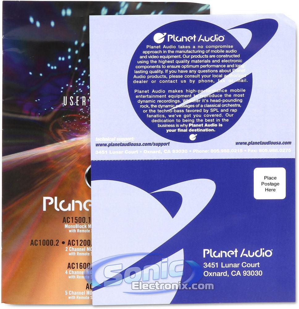 Planet Audio Ac16004 4 Channel Car Amp Ebay Ampkit4 Gauge Contaq Amplifier Wiring Kit Lanzar Installation Parts