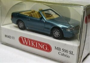 Wiking-1-87-mercedes-benz-500-SL-Roadster-OVP-0142-03-beryllmetallic-cabrio