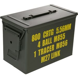 Tactical-Military-Army-Ammo-Can-Large-Full-Metal-OD-Surplus-Airsoft-Box-CA-5001