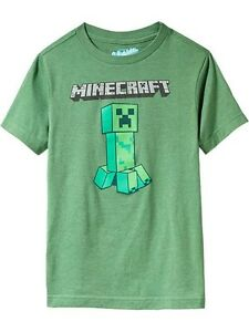 NWT OLD NAVY Minecraft Creeper Tee T-Shirt Tees Shirt Top NEW Boys ... bd277ce59