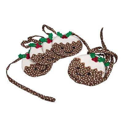 Smiley Felt Christmas Pudding Garland / Bunting * Christmas / Xmas Gift Present