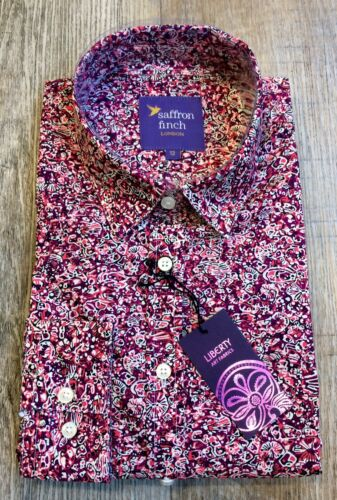 di New Finch limitata Print Shirt Liberty Red Zoolites Edizione Saffron 0zx0pOr