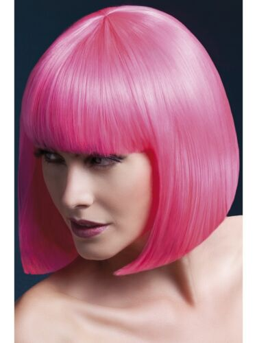 Heat Resistant Wig Washable Styleable Ladies Wig Fancy Dress Wig Elise Hot Pink