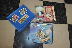 BOITE-2-PUZZLE-PINOCCHIO-DE-WALT-DISNEY-BOIS-JOUET-VEZA-VINTAGE-1960-COMPLET