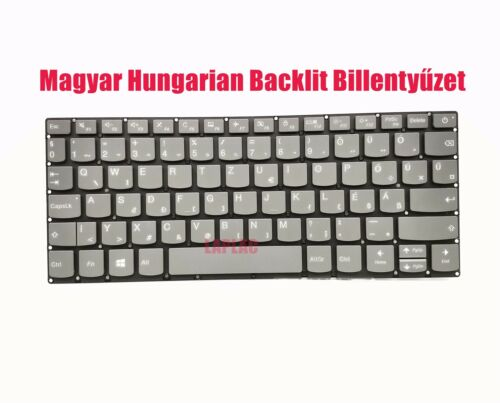 Magyar Hungarian backlit keyboard for Lenovo Ideapad 120S-11IAP Type:81A4