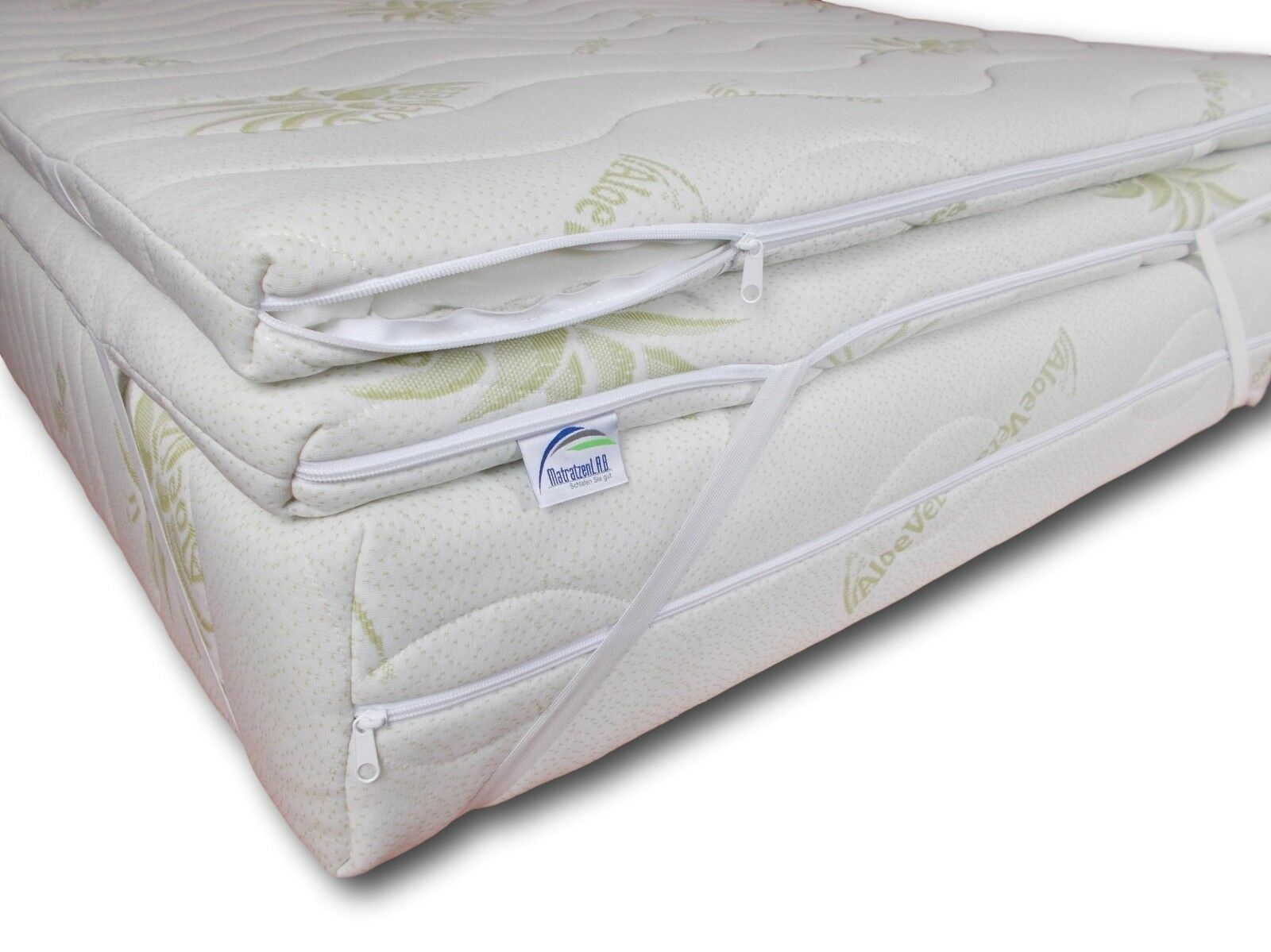 Mattress Topper Foam 180 x 200 Height 8 cm Mattress Protector h4