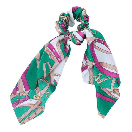 Women/'s Hair Scrunchies Scarf Bow Hair Tie Rubber Ropes Ponytail Holders Ribbon