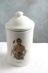 Winnebago-Chief-Tobacco-Jar-Humidor-HOO-WAN-NE-KA-Gold-Label-1886