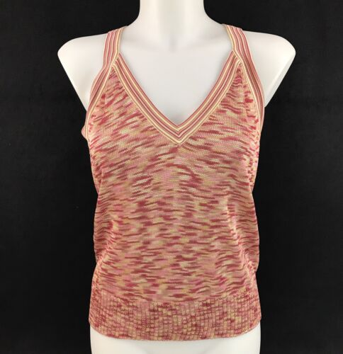 Multicolor Knit Twinset Medium Top John Tank Sweater Størrelse St Cardigan n7xzfw