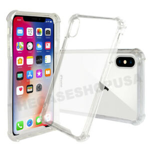 For-iPhone-XS-XS-MAX-X-Crystal-Clear-Case-Transparent-Soft-TPU-Rubber-Bumper