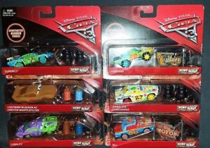CARS-3-DEMO-DERBY-SUPERFLY-JAMBALAYA-BILL-LIABILITY-Mattel-Disney-Pixar