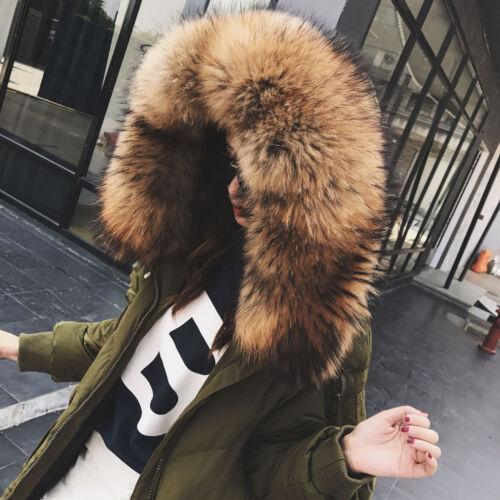 New Fur Parka 2colors Down Hooded Real Varm Women's Jacket Collar Coat rvzwPrqx