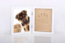 Bilderrahmen Gipsabdruck Hund, Katze, Maus, Fotorahmen, Pfoten Abdruck UVP: 20€