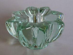 1 Ancien Bougoir En Cristal Vert De Pierre D'avesn Daum