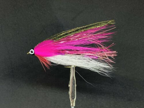 Trout MAB Lures Flies Streamer Tandem Custom Pink Shiner