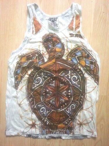 Yoga Men Tank Top sleeveless cotton TURTLE TORTOISE SEA NATURE hippie sure