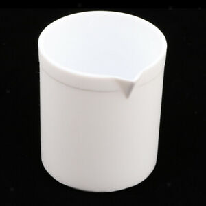 100-300ml-PTFE-Beaker-Crucible-Cup-for-chemistry-biology-lab-Labware-w-Spout