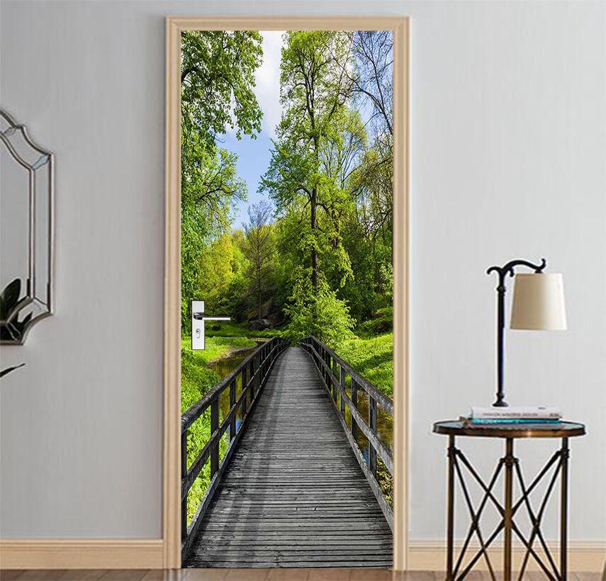 3D Wald 740 Tür Wandmalerei Wandaufkleber Aufkleber AJ WALLPAPER DE Kyra
