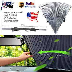 US Retractable Car Front Window Sun Shade Visors Folding Windshield ... 6663f03213a