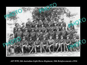 OLD-POSTCARD-SIZE-PHOTO-OF-AIF-AUSTRALIAN-ANZAC-8th-LIGHT-HORSE-REGIMENT-c1916