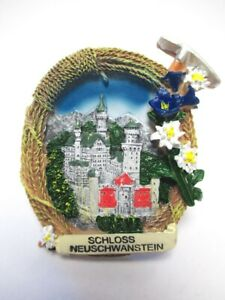 Schloss-Neuschwanstein-Fuessen-3D-Poly-Fridge-Magnet-Souvenir-Germany