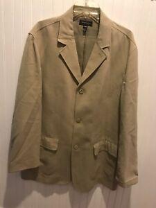 Tommy-Bahama-Men-039-s-SZ-Large-Long-Sleeve-Button-Up-Island-Tan-Basic-Jacket