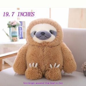 Winsterch Fluffy Giant Sloth Stuffed Animal Toy Kids Gift Large
