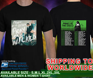 f6cdf467 Panic! At The Disco Pray For The Wicked Tour Dates 2019 Black T ...