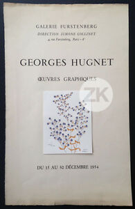 GEORGES-HUGNET-Oeuvres-graphiques-Galerie-FURSTENBERG-Paris-Affiche-1954
