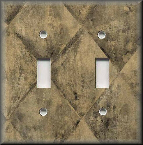 Metal Light Switch Plate Cover - Rustic Black And Tan Stone Image Kitchen Decor