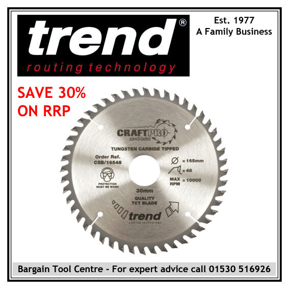 Trend CSB AP25480 Aluminium & Plastic 254mm (10'') Diameter x 24 Teeth