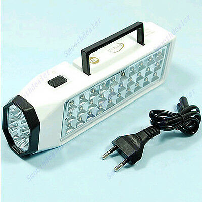 38-LED Rechargeable Emergency Light Lamp High Capacity