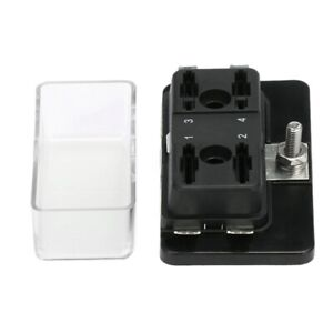 4 Way Circuit ATO ATC Blade Fuse Box Holder For Car Van Boat Marine Truck W3W1