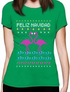 image is loading feliz navidad flamingo ugly christmas sweater women t