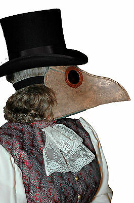 Plague Doctor Medieval Dr Mask Faux Leather Brown Steampunk Gothic Inferno ELOPE