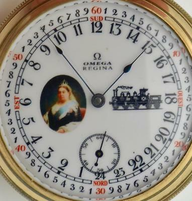 Rare Canadian RAILWAYS Omega Regina CHRONOMETER 24h day/night dial pocket watch