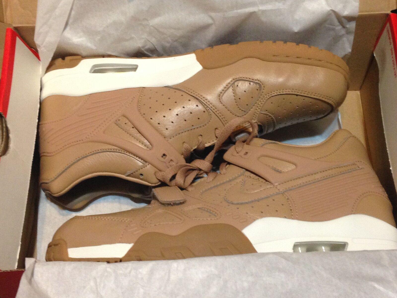 Men's Nike Air Trainer 3 PRM QS Sneaker Wheat Bo Jackson Gummy Size 11.5