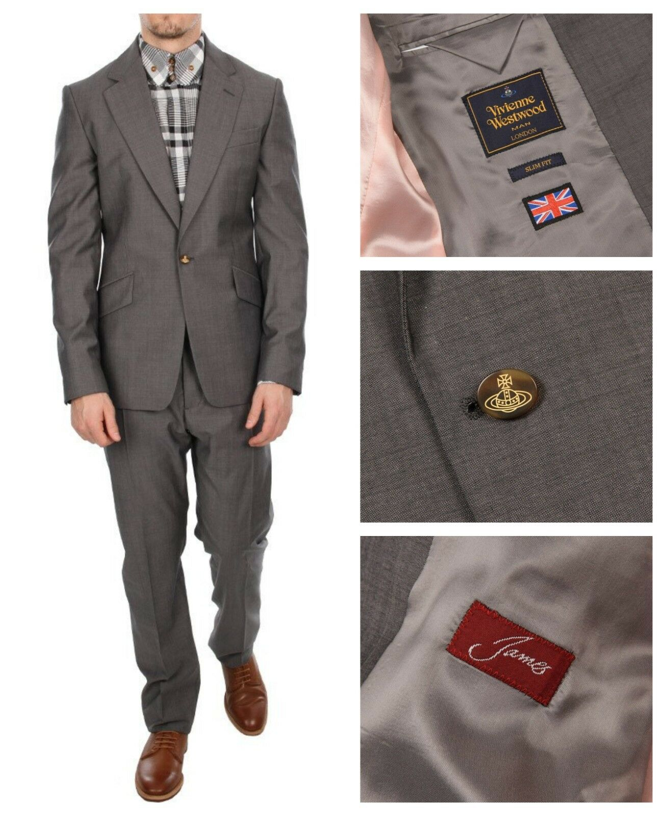 NWT AUTHENTIC VIVIENNE WESTWOOD grau SLIM FIT