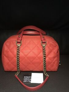 4155b62b0cd5ea Image is loading CHANEL-CC-RED-Soft-Caviar-Quilted-Leather-Shoulder-