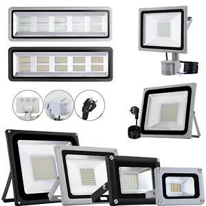 10W-1000W LED Fluter mit Stecker mit Bewegungsmelder Außen Strahler Flutlicht DE