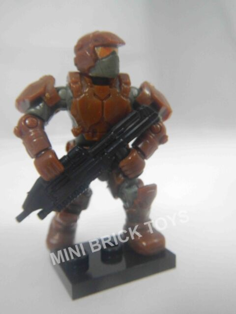 HALO Mega Bloks DELTA Series 13 Brown UNSC MARINE MiniFigure Assault Rifle NEW