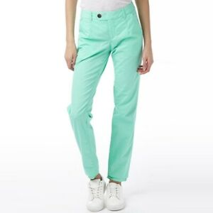 New-adidas-Neo-Womens-Chinos-Mint-Green-Coral-Trousers-Chino