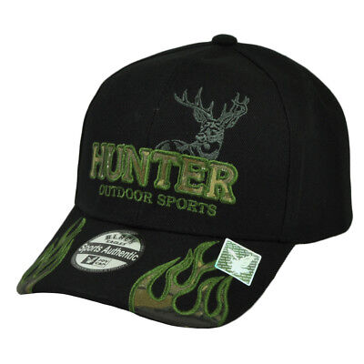 Hunter Outdoor Sport Hunting Jagd Hut Reh Flames Tarnfarbe Schwarz Camping Baseball & Softball