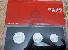 China 1986 year 1 Fen+2 Fen+5 Fen coins set 3PCS