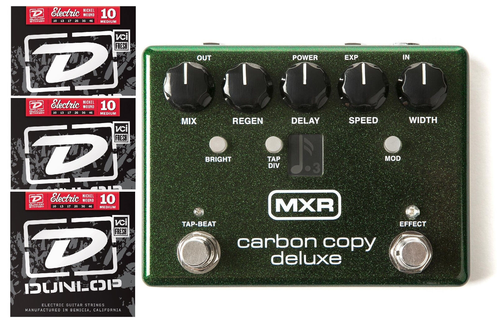 MXR Carbon Copy Deluxe Analog Delay Guitar Effects Pedal M292 ( 3 STRING SETS )