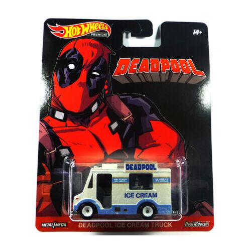 ° Hot Wheels DMC55-62 Deadpool Ice Cream Truck weiss//blau Maßstab 1:64 NEU