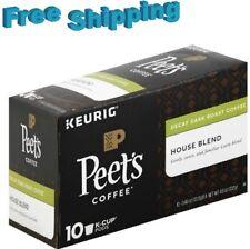 Peet's Coffee Decaffeinated House Blend Dark Roast K-Cups - 10 Count